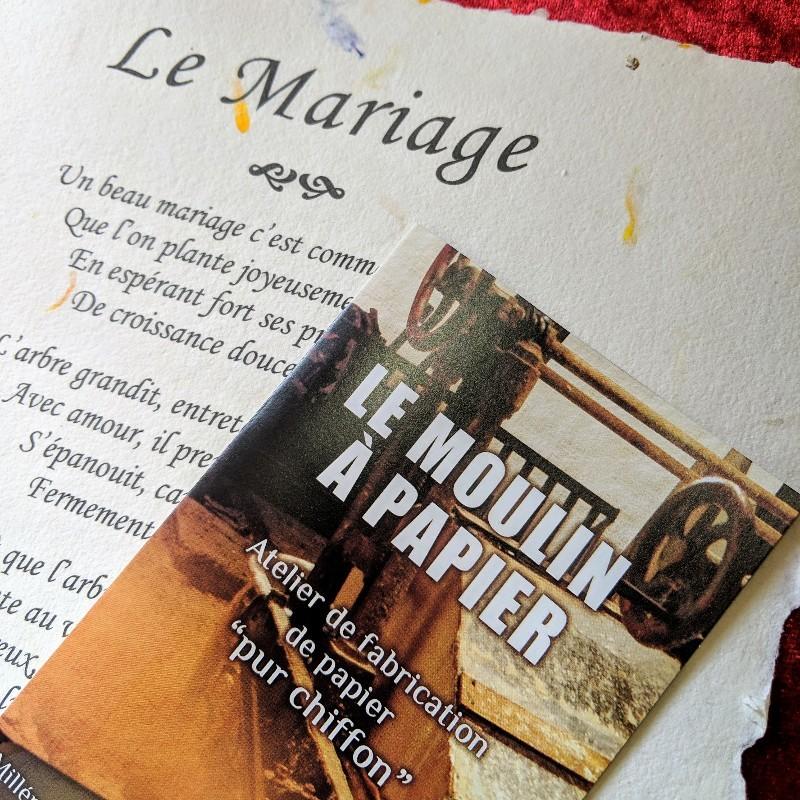 Le Mariage - Moulin à Papier de Sainte-Suzanne