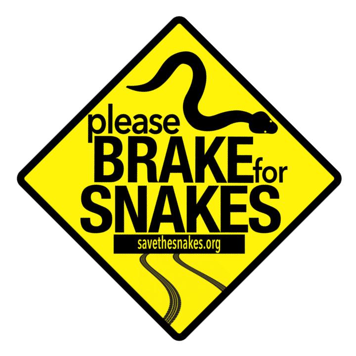 Brake For Snakes Sticker brake-for-snakes-sticker