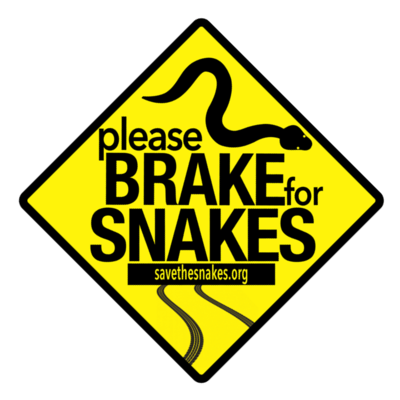 Brake For Snakes Sticker