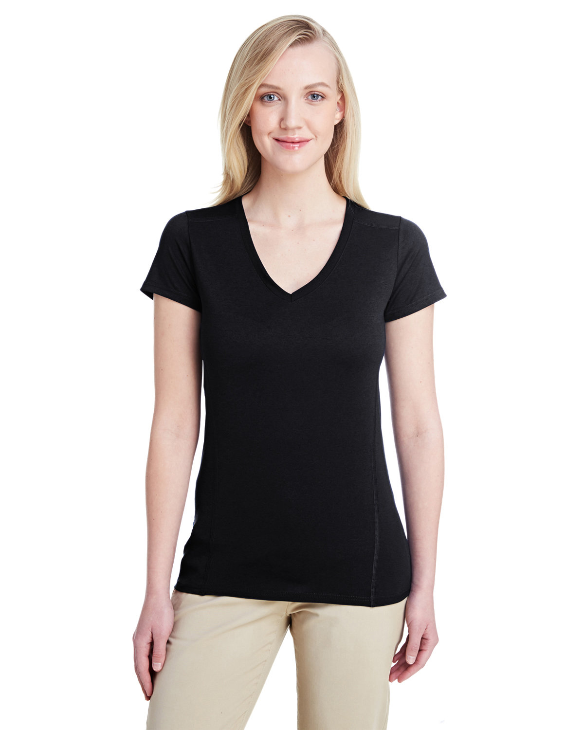 Gildan Ladies' Performance® Ladies' 4.7 oz. V-Neck Tech T-Shirt