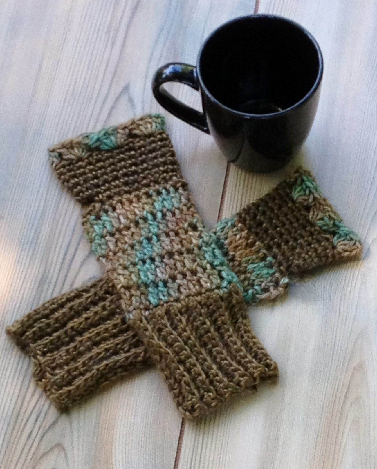 Deep Sea Fingerless Mitts - Made to Order