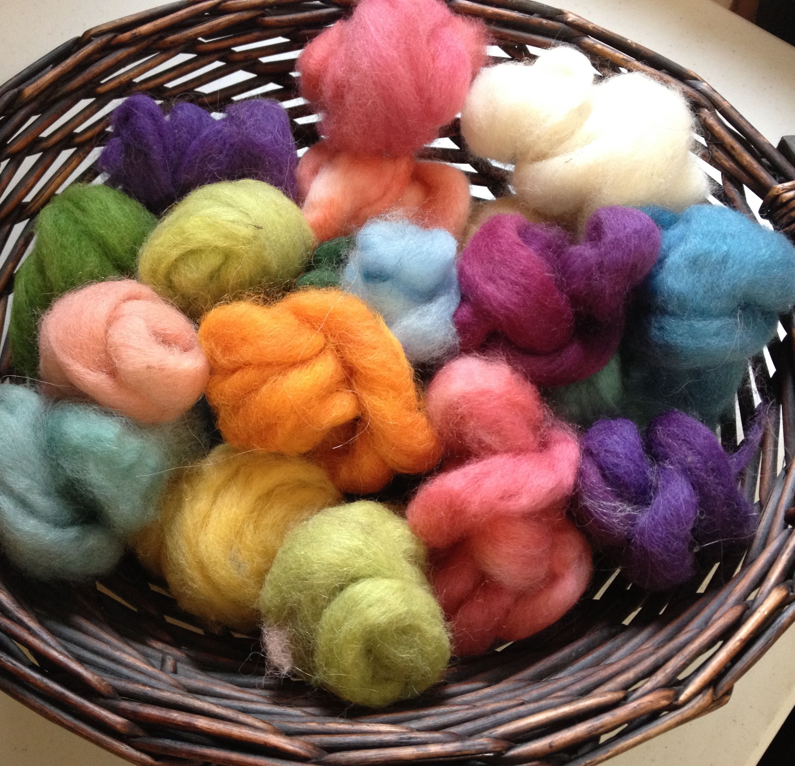 Alpaca Wool Roving Sampler - Spring Colors 17807
