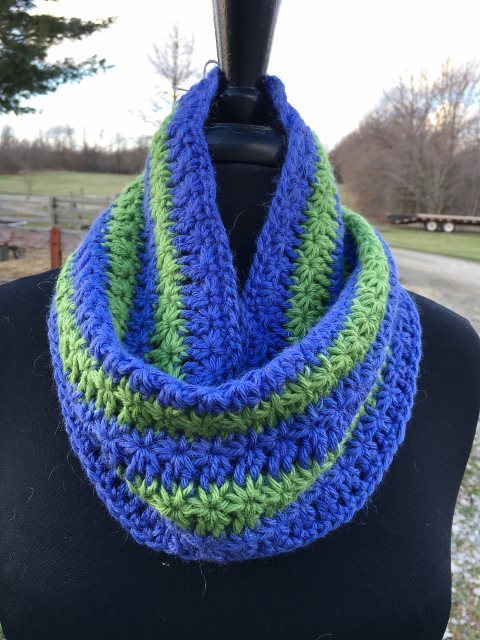 Star Striped Alpaca Neck Warmer Cowl