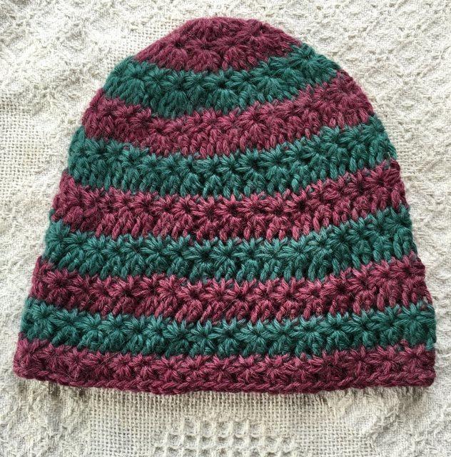 Star Striped Alpaca Hat
