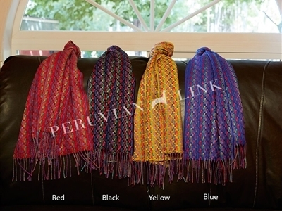 Multi Color Weave Baby Alpaca Scarves 17992