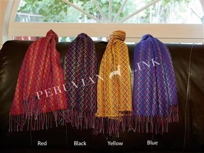 Multi Color Weave Baby Alpaca Scarves