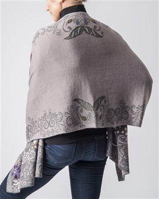 Alpaca Embroidered Shawl