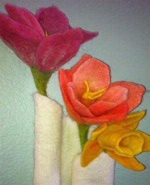 Needlefelt Spring Flowers Kit