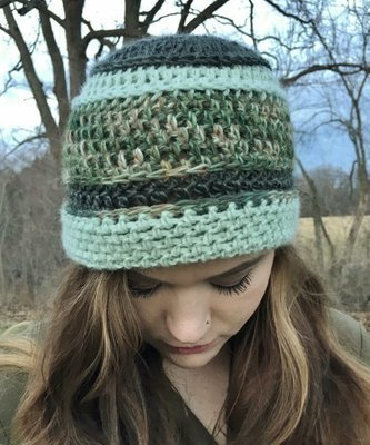 Multi-Color Green Hat - Camo