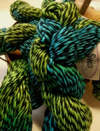 Hand-Dyed Swizzle Alpaca Yarn - Peacock