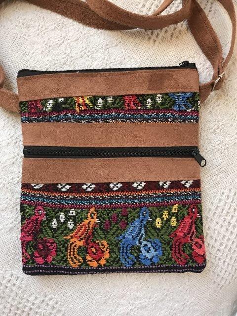 Handwoven and Leather Shoulder Bag
