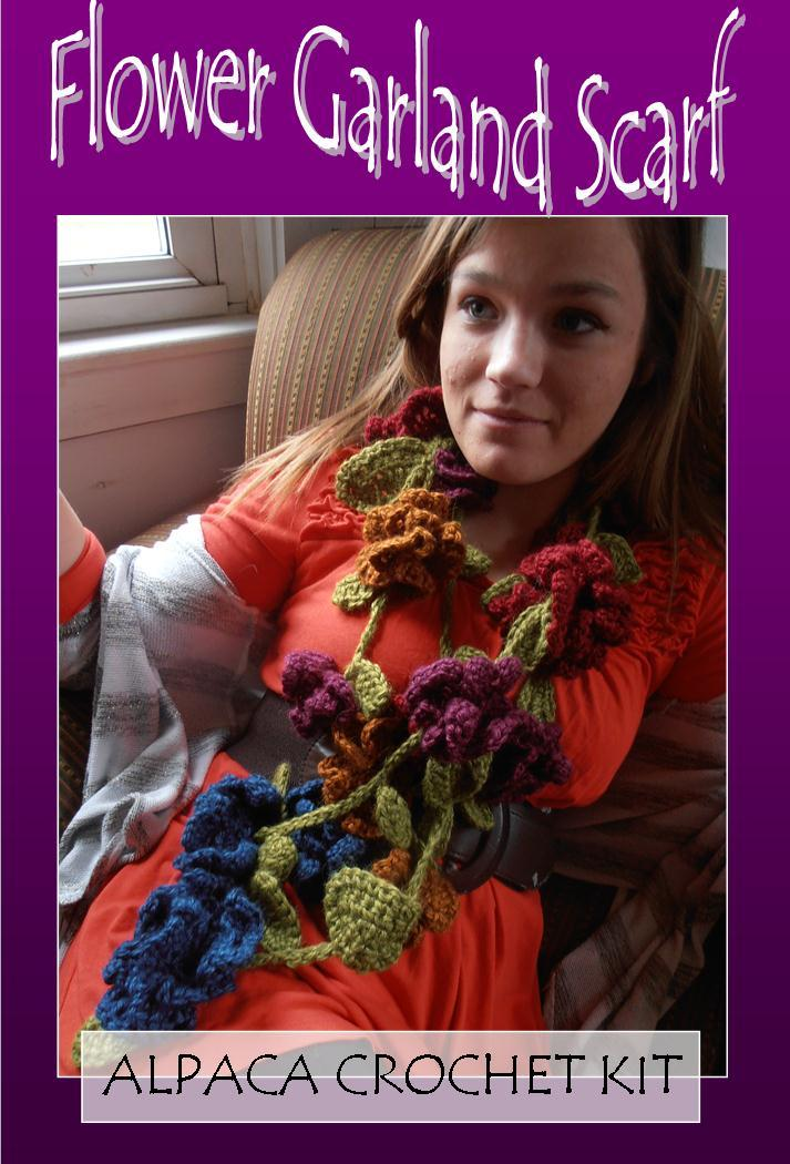 Flower Garland Scarf Crochet Kit AMDWS-0313