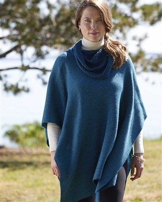 NEW Cowl Neck Square Alpaca Cape 18237