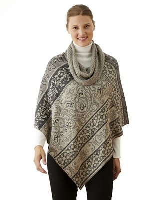 NEW Granite Cowl Neck Poncho PL-25688