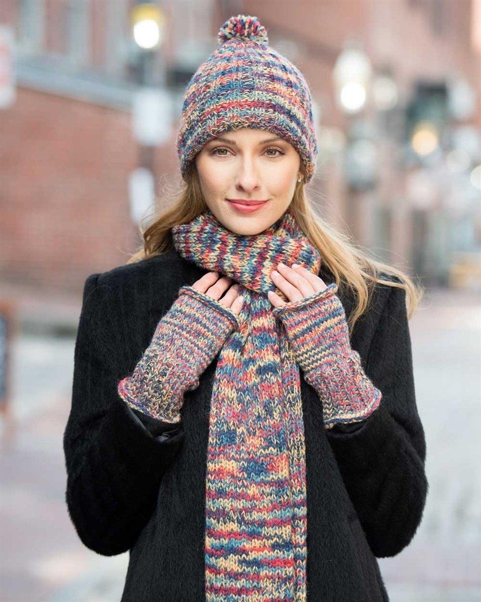 Chunky Pallet Hand Knit Alpaca Gauntlets PL-113