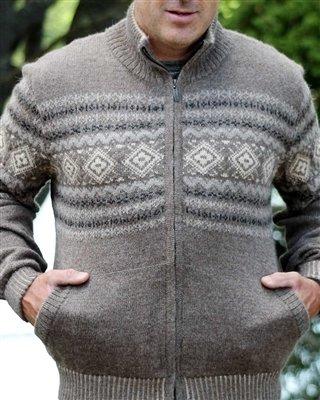 Men's Fleece Lined Alpaca Sweater 18277