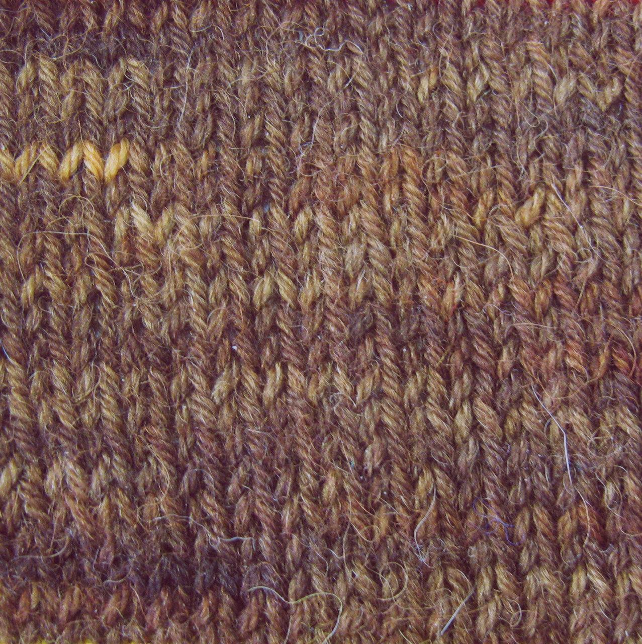 Alpaca and Superwash Wool Sock Yarn - Burled Walnut