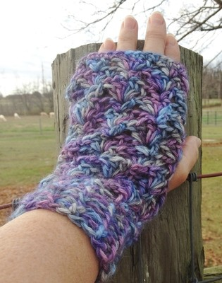 Alpaca Fingerless Gloves - Moonlight