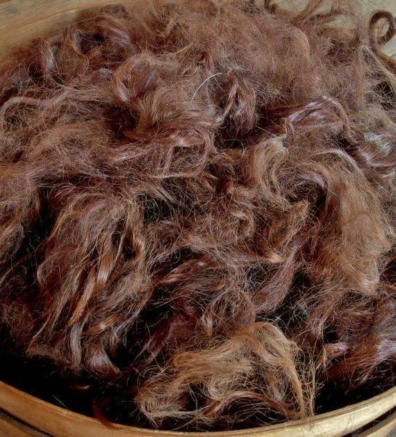 Suri Alpaca Fiber, 4 Inches, Medium Brown, Mabelle 18310