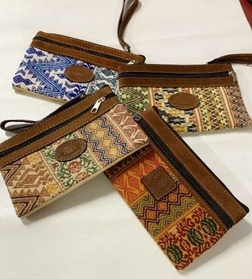 Handwoven and Leather Case
