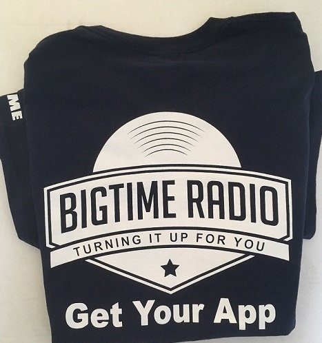 BigTime Radio T-Shirt Sizes SMALL, MED, LARGE btrt