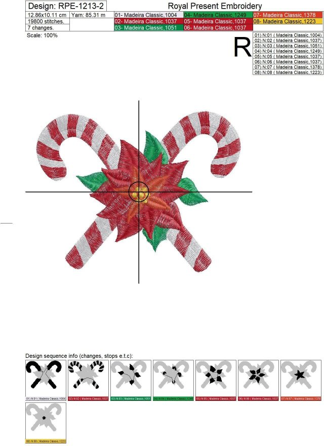 Christmas Lollipops Machine Embroidery Design - 3 sizes