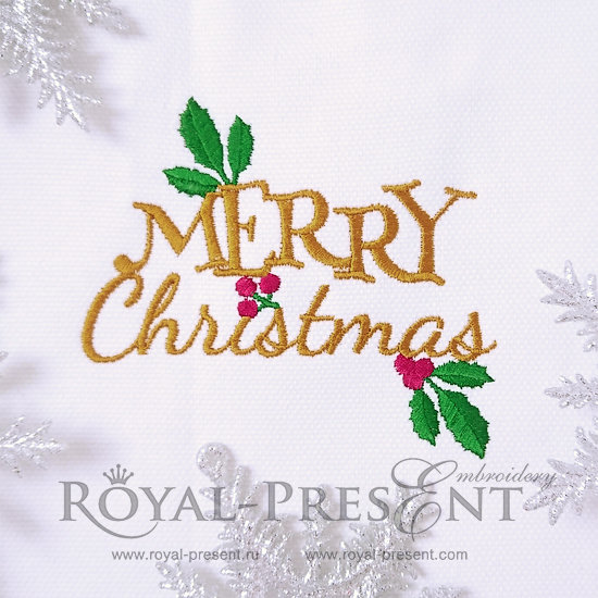Free Machine Embroidery Design Merry Christmas RPE-812