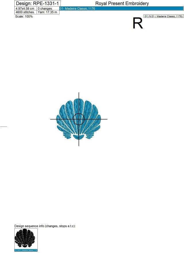 Mini Seashells Machine Embroidery Designs