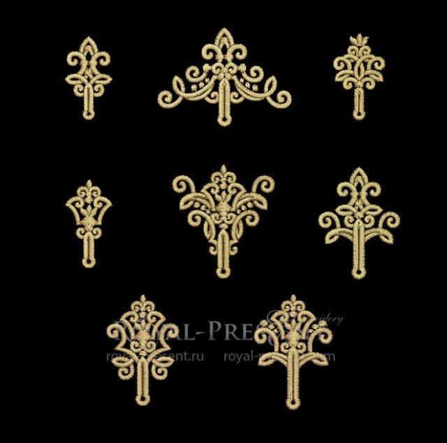 Rococo Buttonholes Machine Embroidery Designs RPE-1397