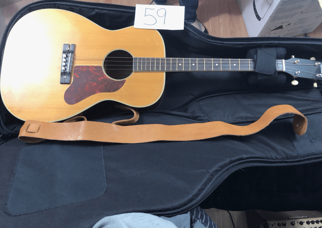 Guitar With Case and Strap 00092