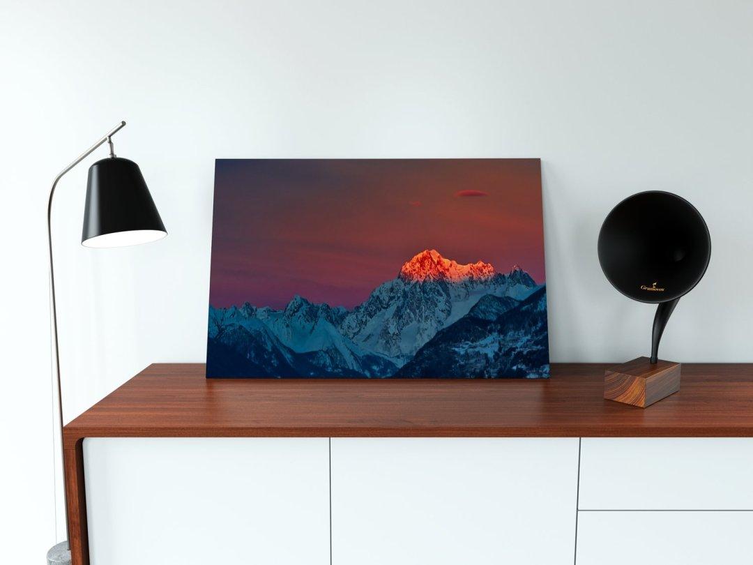 Aube sur le Mont Blanc
