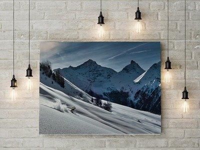 Ski à la Pointe de la Pierre (Val d'Aoste)