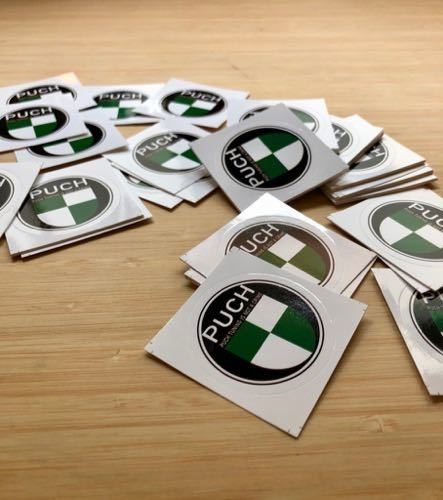 Sticker Set | 10x Puch Logo Sticker | Puch Tuning Is Not A Crime