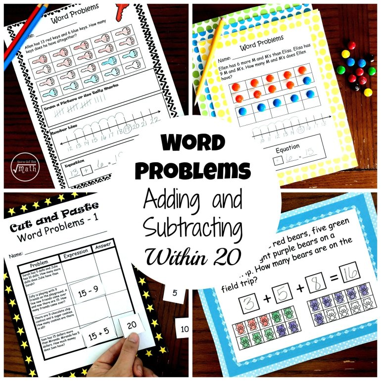 Word Problem Bundle – 4 Activities to Practice Adding and Subtracting 00008