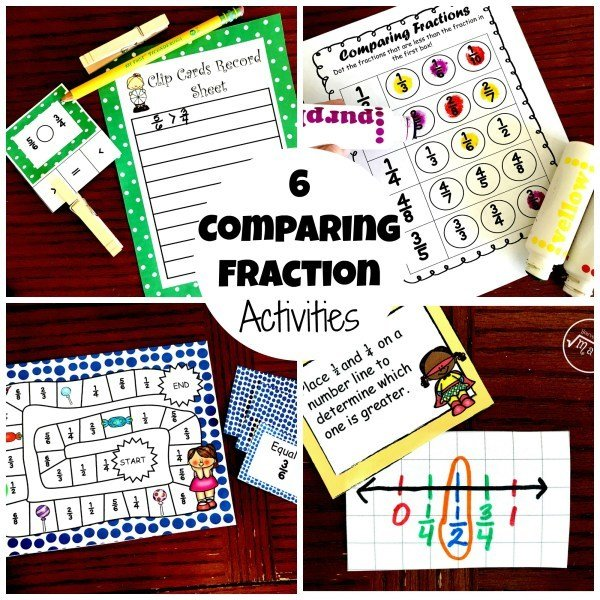 6 Comparing Fraction Activities 00021