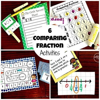 6 Comparing Fraction Activities