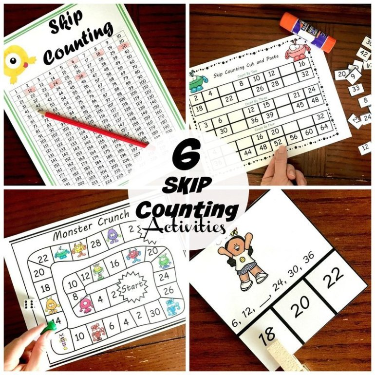 6 Skip Counting Activities