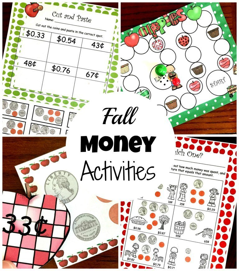 6 Counting Coin Activities with an Apple Theme
