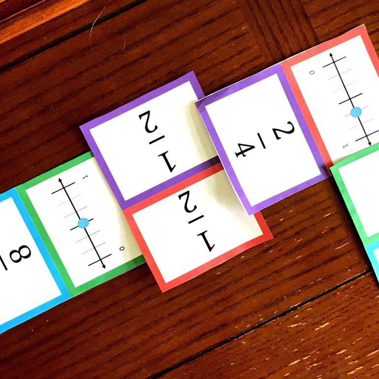 Equivalent Fraction Dominoes