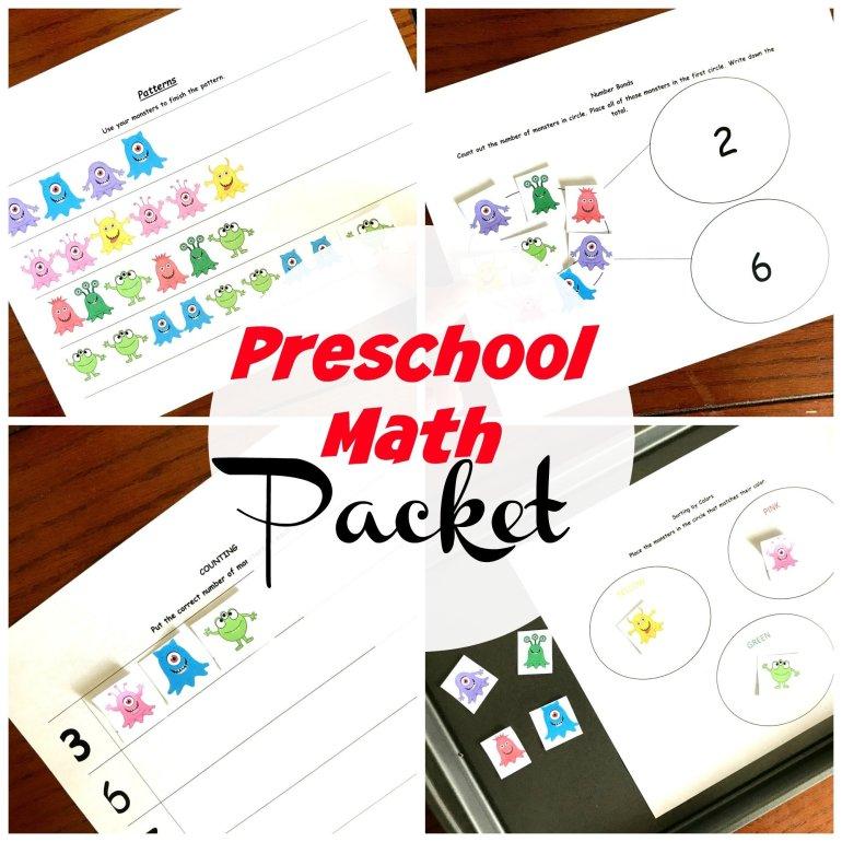 Preschool Math Packet 00040