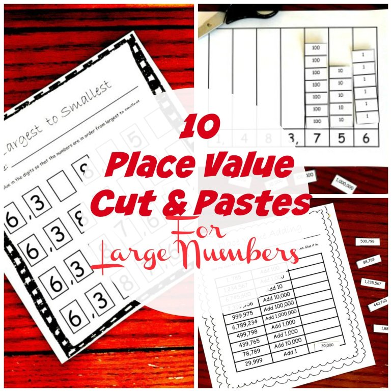 10 Cut and Paste Activities To Learn About Place Value for Large Numbers 00051