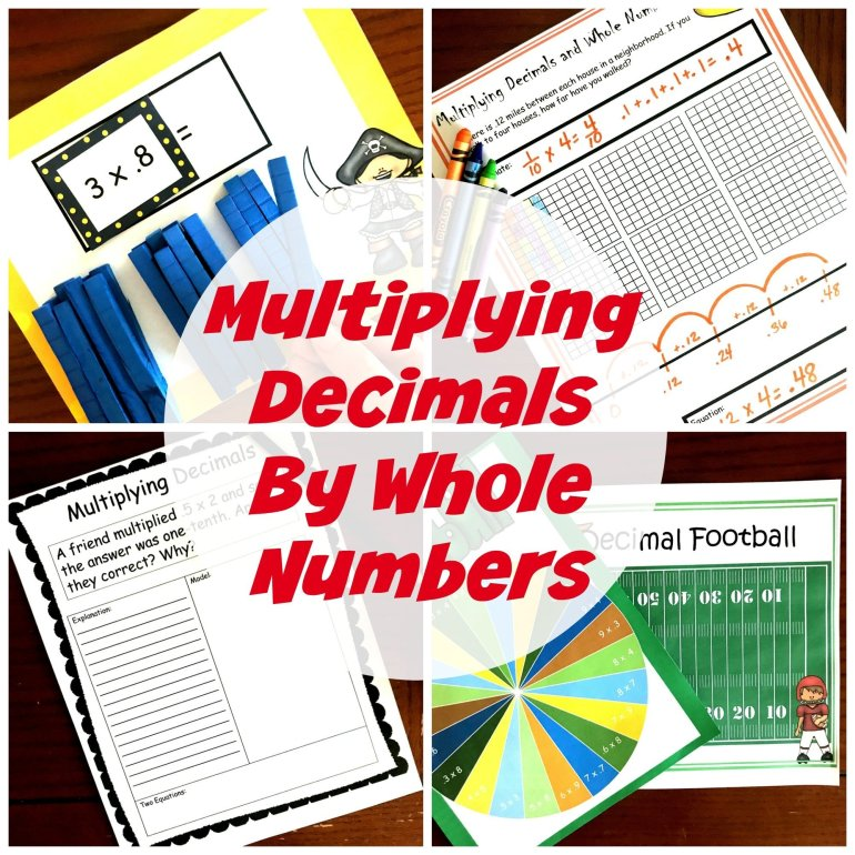 Multiplying Tenths By Whole Numbers 00060