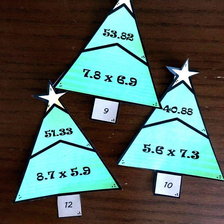 Seven Christmas Tree Math Activities