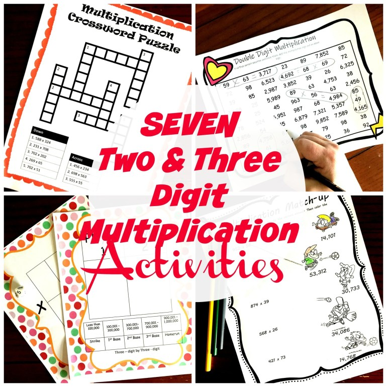 7 Activities to Practice Multiplying Two and Three Digit Numbers 00064