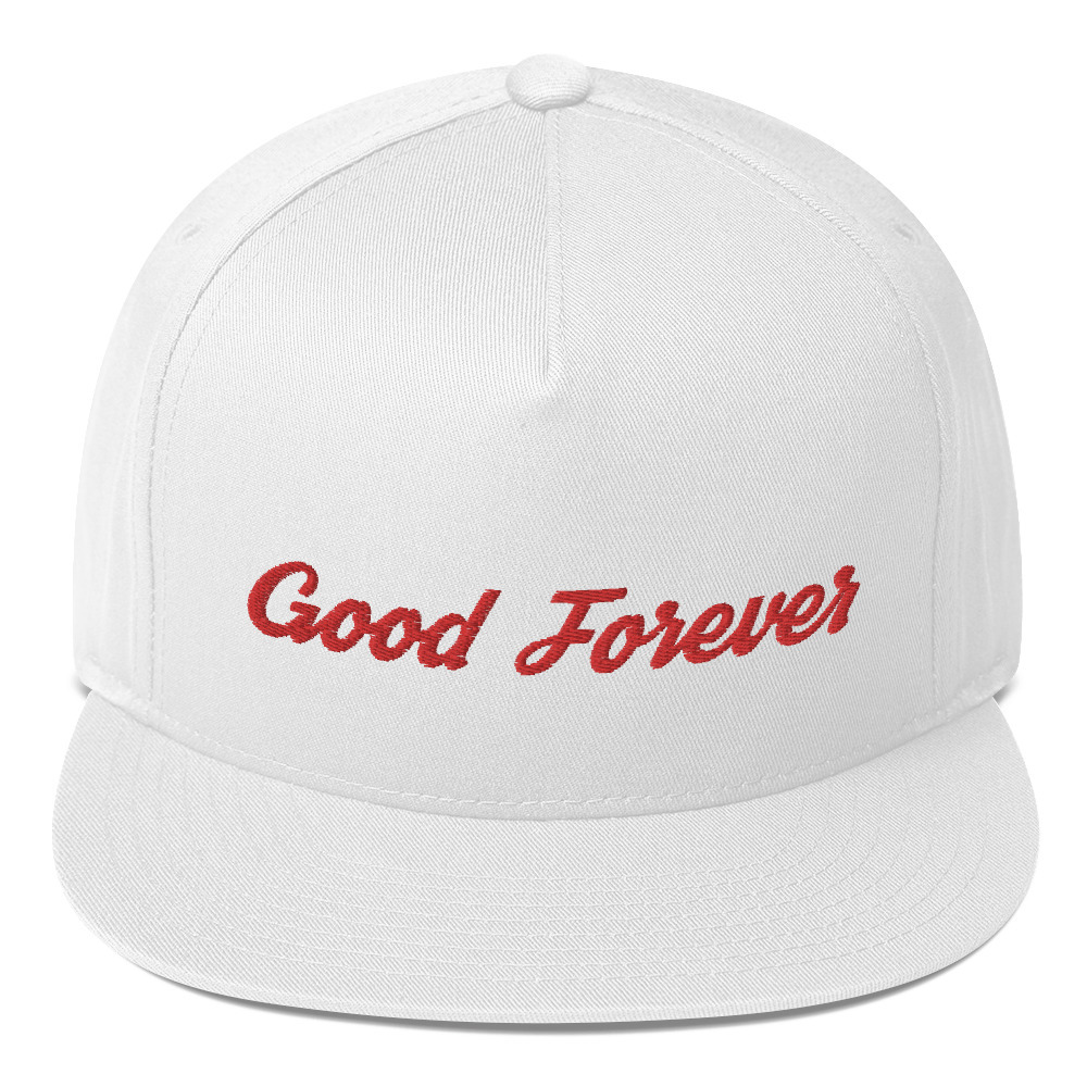 Good Forever Signature Candy Red Alt. Flat Bill Cap 00083