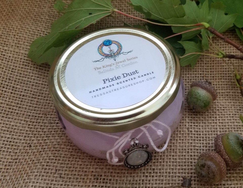 Pixie Dust Scented Candle with medallion