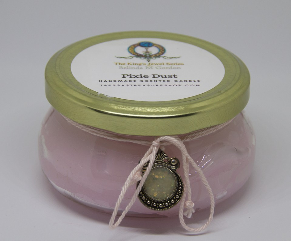 Pixie Dust Scented Candle with medallion 00014