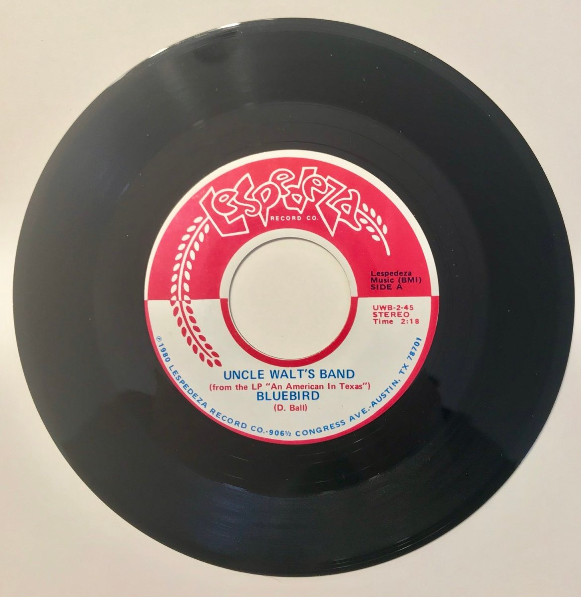 Original 45: Bluebird / Too Far To Fall