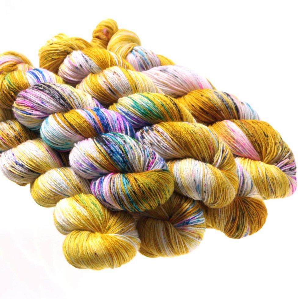 Hedgehog Fibres Kidsilk Lace in Fools Gold XYVA8J8TR3FHR