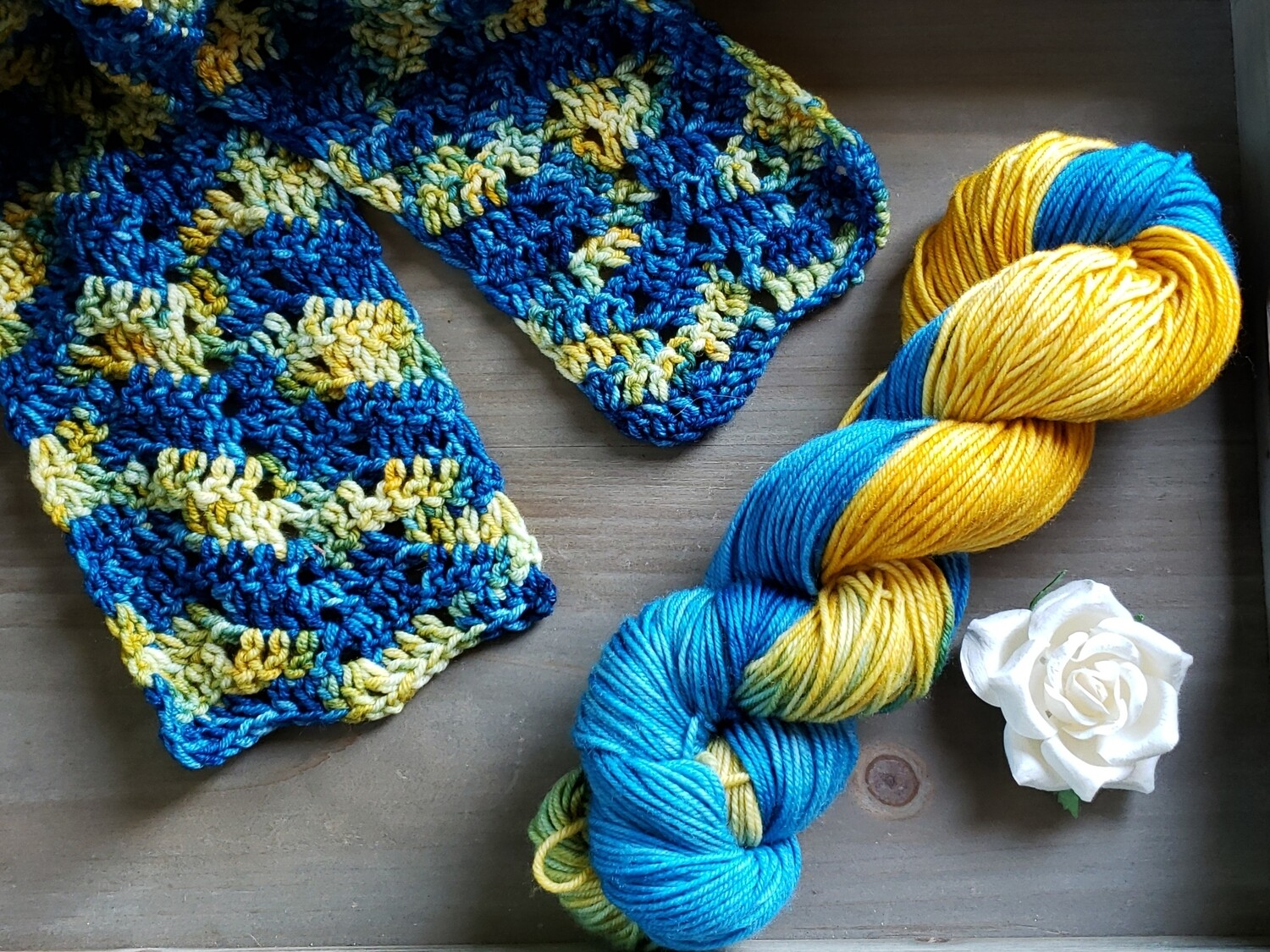 Starry Night Scarf Crochet Kit